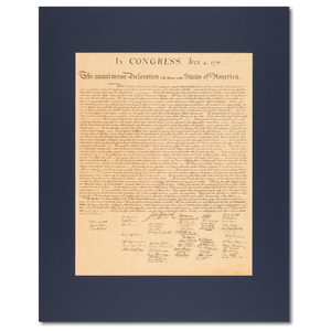 Declaration of Independence, Matted